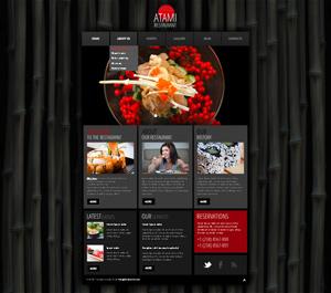Wordpress шаблон сайта ресторана японской кухни