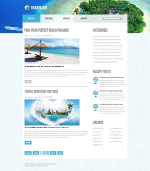 Шаблон туристического сайта для Joomla