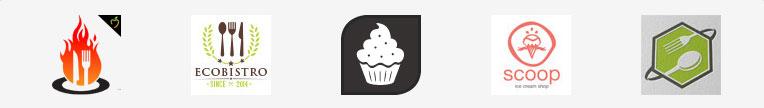 Логотипы пища, еда